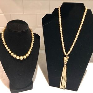 Two RL faux pearl necklaces